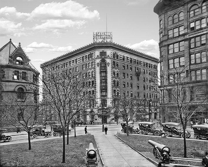 Lafayette Hotel Buffalo New York C 1908