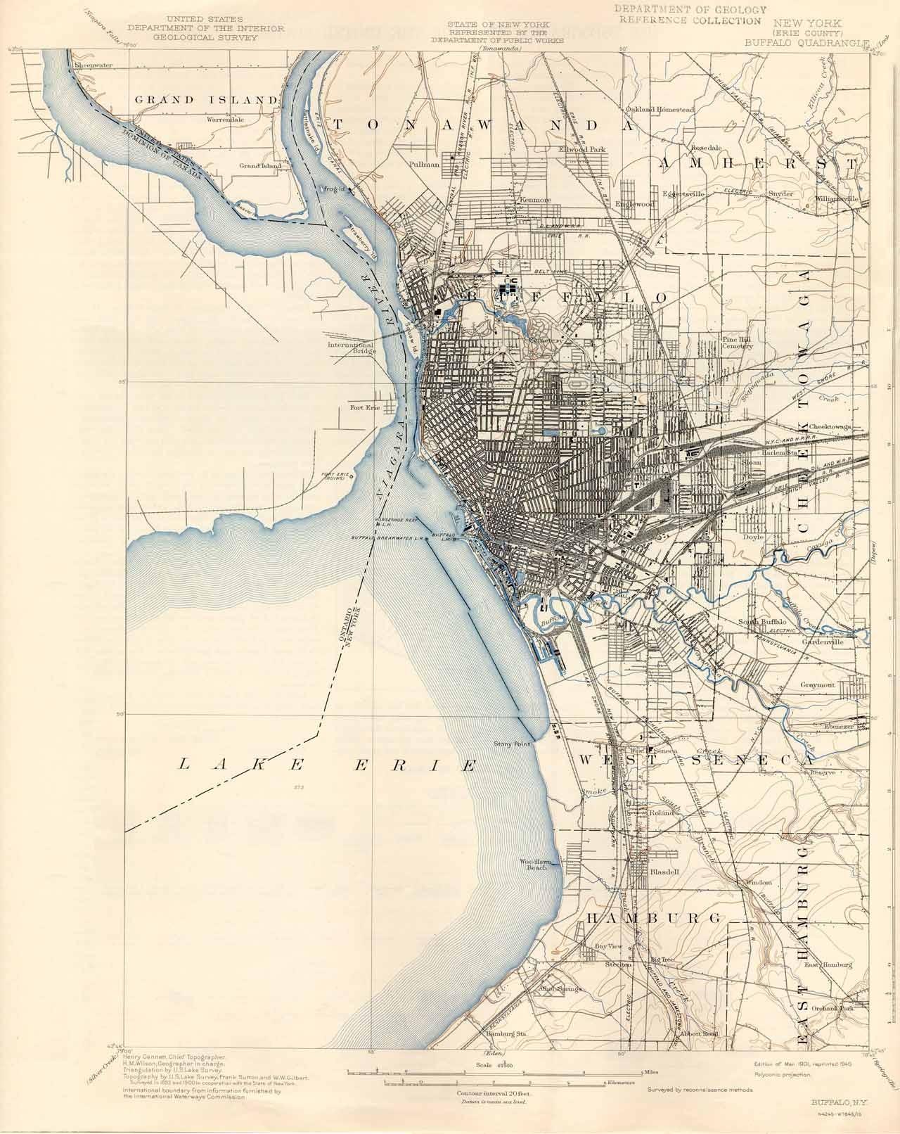 1901 usgs map of buffalo ny