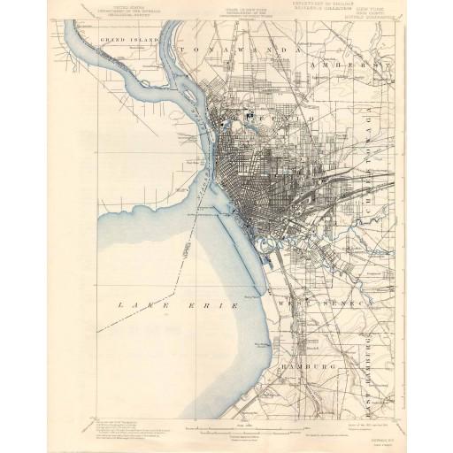 1901 USGS Map of Buffalo, NY