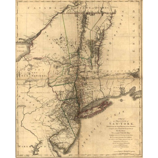 A map of the Province of New-York