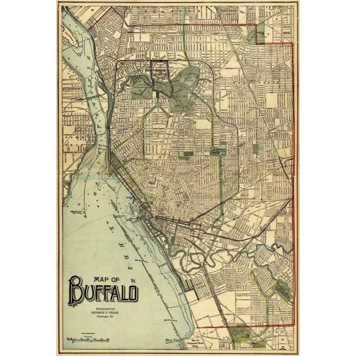 Map of Buffalo 1911