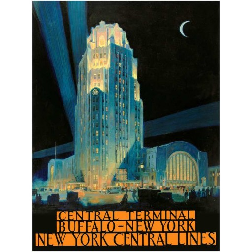 Central Terminal - New York Central Travel Poster