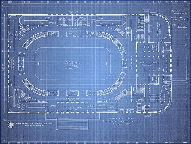 Buffalo Memorial Auditorium Blueprint