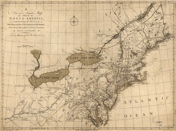 A new and accurate map of part of North-America