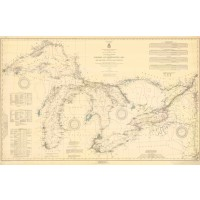 General Chart Of The Northern And Northwestern Lakes Including New York State Canals And Lake Champlain