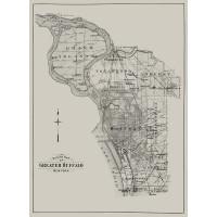 Buffalo 1915 Vol 3 Suburban | Outline Map of Greater Buffalo | Historic Cartography