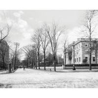 Outside the William Butler Mansion, c1905