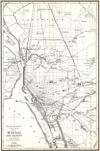 Map of Buffalo 1921