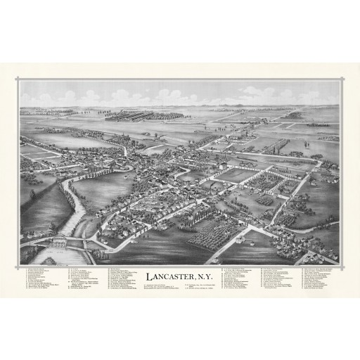 Map of Lancaster, N.Y.  1892 (White)
