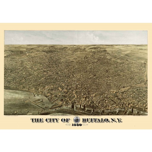 Buffalo, NY Panoramic Map - 1880