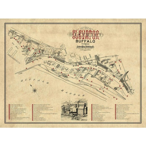 Key Map of the Buffalo Elevator District 1890