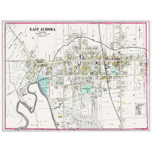 East Aurora Map - Century Atlas 1909