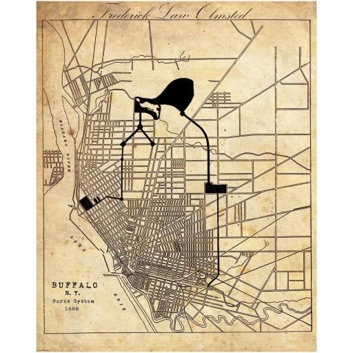 Buffalo Parks System Map