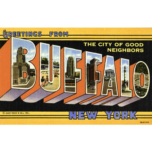 Welcome to Buffalo - Postcard Print