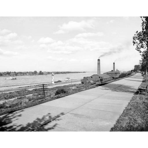 Water Intake, Niagara River, c1900
