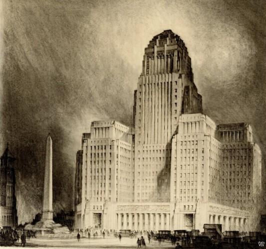 Buffalo City Hall Rendering - Dietel, Wade & Jones