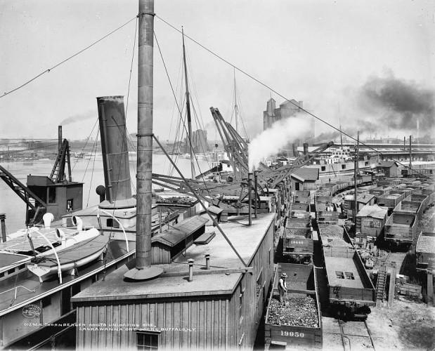 Thornberger hoists unloading ore