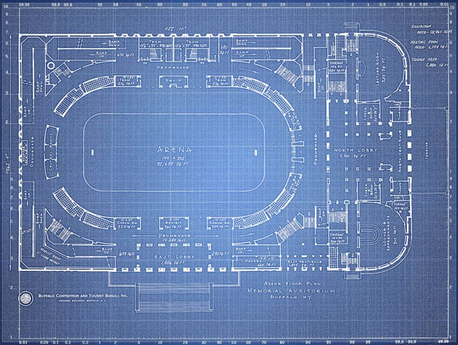 Buffalo Memorial Auditorium Blueprint