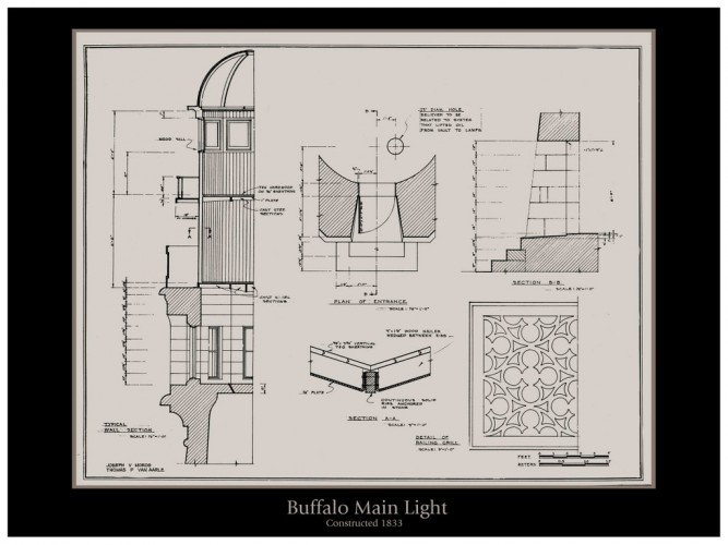 The Buffalo Main Light Details - Architectural Drawing