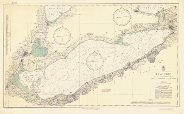 Lake Erie Including The Waterways Between Lakes Ontario And Huron - 1934