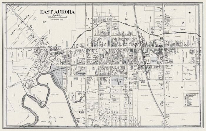 East Aurora Map - Century Atlas 1909 (Color)