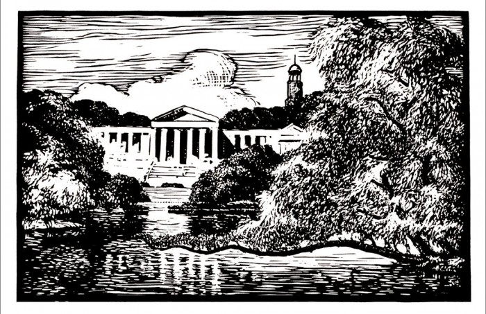 Albright Art Gallery Linocut