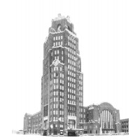 Central Terminal Black and White