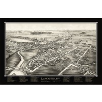 Map of Lancaster, N.Y.  1892 (Black)