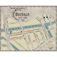 The 1893 Map of the Retail Places of Business of Buffalo / aka Ill-repute Map