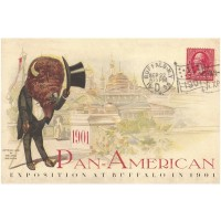 Buffalo Top-hat, Pan-Am Souvenir  Poster