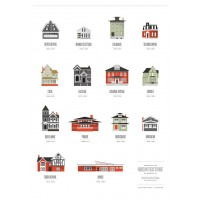 Buffalo Inspired Architecture Poster
