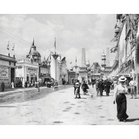 The Midway of the Pan Am Exposition, c1901