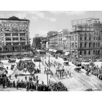 Parading Down Main Street, c1900